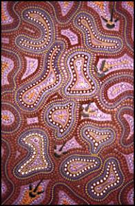 aboriginal painting emu dreaming 971 by walangari karntawarra