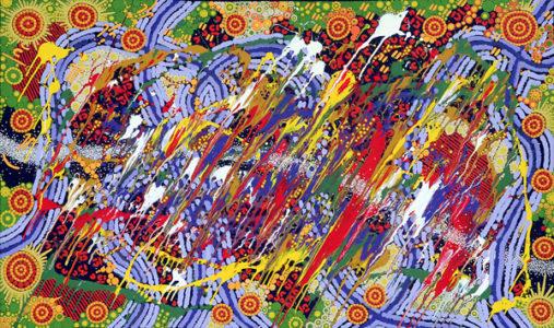 aboriginal painting kwatje jukurrpa water dreaming by walangari karntawarra