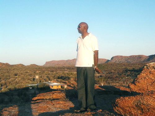 walangari on his traditional aboriginal land in central australia