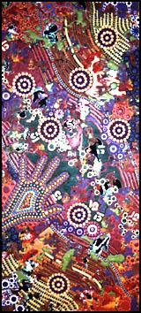 aboriginal painting seven sisters 962 by walangari karntawarra