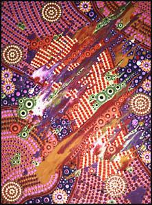 aboriginal painting songlines 961 by walangari karntawarra