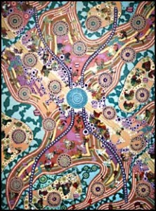 aboriginal painting water dreaming 951 by walangari karntawarra