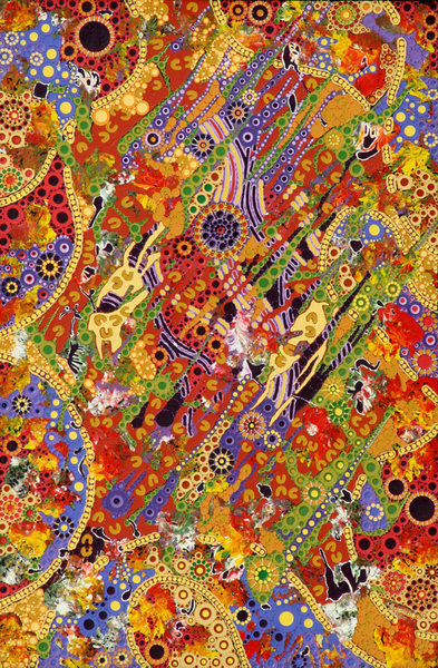 aboriginal painting winparrku by walangari karntawarra