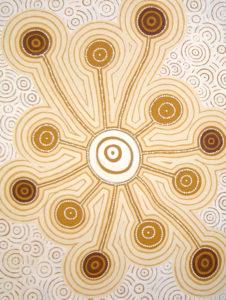 aboriginal painting jukurrpa 101 by walangari karntawarra