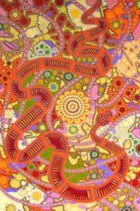 aboriginal painting snake dreaming 077 by walangari karntawarra