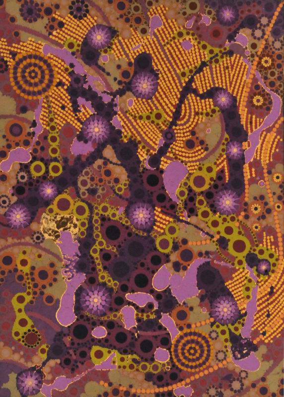aboriginal painting songlines 981 by walangari karntawarra