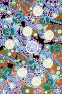 aboriginal painting seven sisters dreaming 062 by walangari kartnawarra