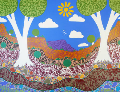 aboriginal painting my desert country 115 by walangari karntawarra