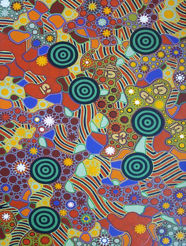 aboriginal painting seven sisters dreaming 115 by walangari karntawarra