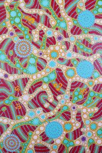 aboriginal painting songlines 116 by walangari karntawarra