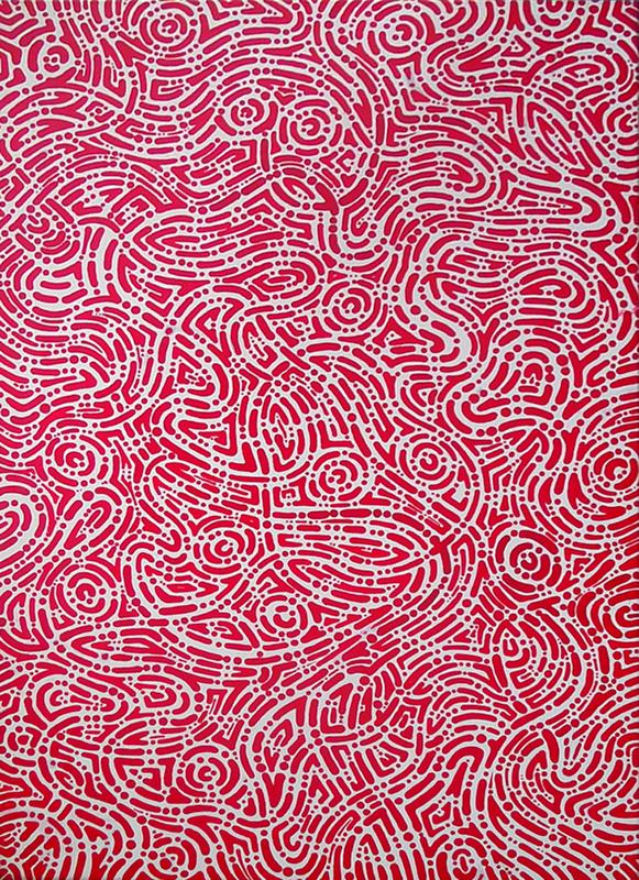 aboriginal painting songlines 117 by walangari karntawarra