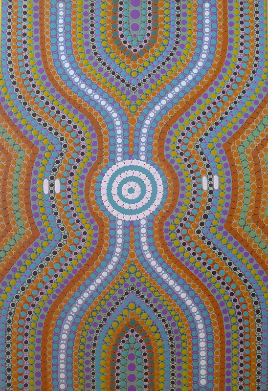 aboriginal painting water dreaming 115 by walangari karntwarra