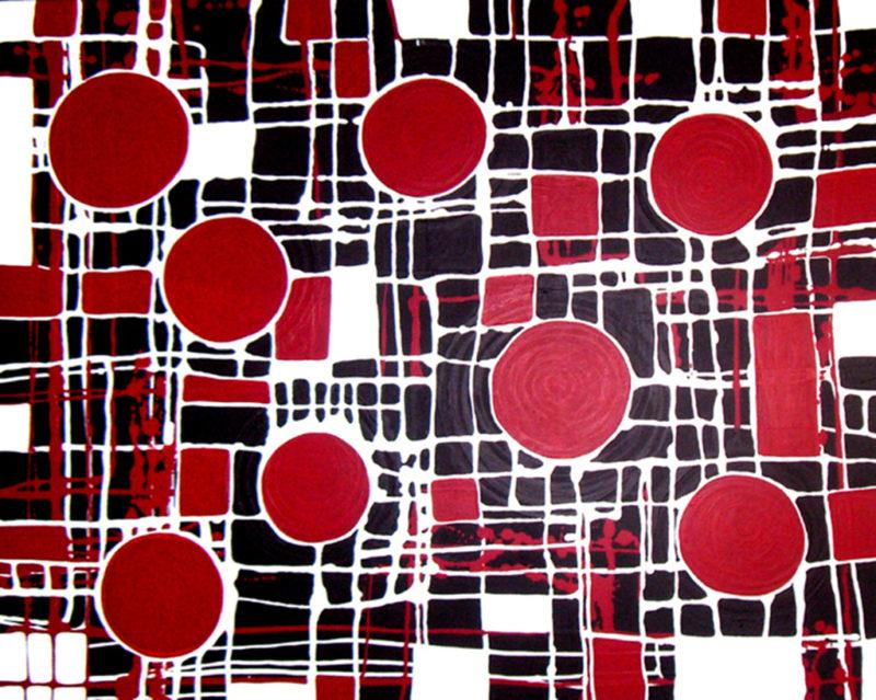 aboriginal painting kinship 081 (landscape) by walangari karntawarra