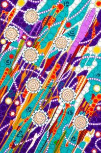 aboriginal painting kinship 061 by walangari karntawarra