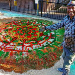 aboriginal sand painting walangari mortdale public school