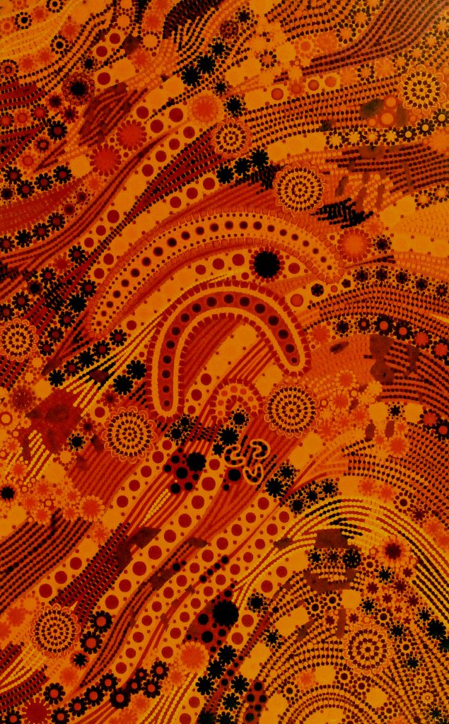 aboriginal painting teaching learning 991 by walangari karntawarra