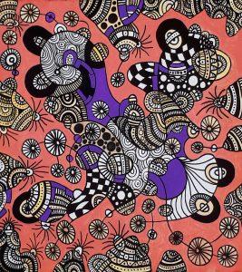 aboriginal painting whose motorcycle 118 landscape by walangari karntawarra