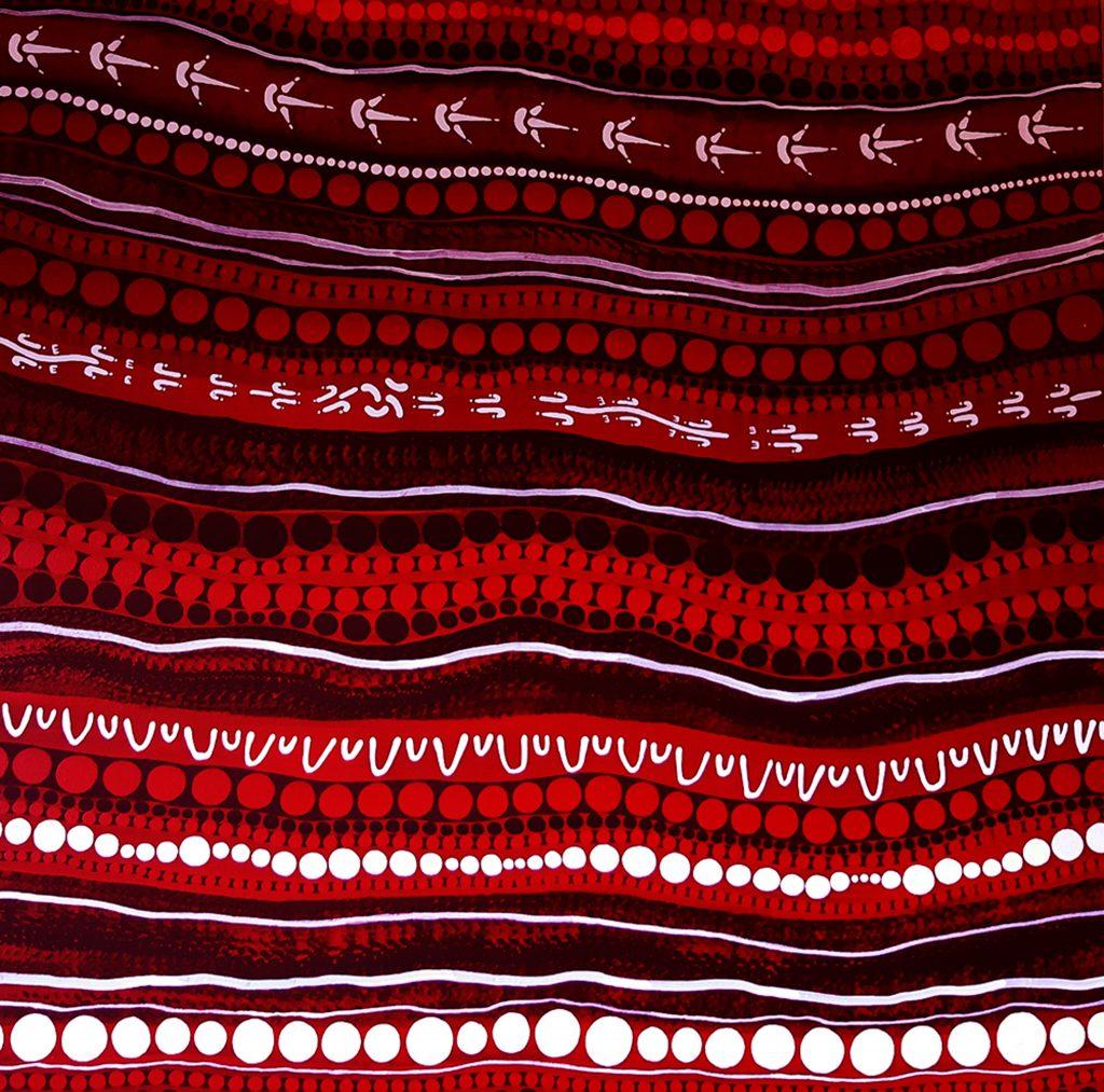 hunting and gathering 067 aboriginal painting by walangari karntawarra