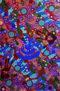 teaching and learning aboriginal painting by walangari karntawarra