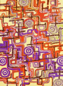aboriginal painting urban songlines 120 by walangari karntawarra