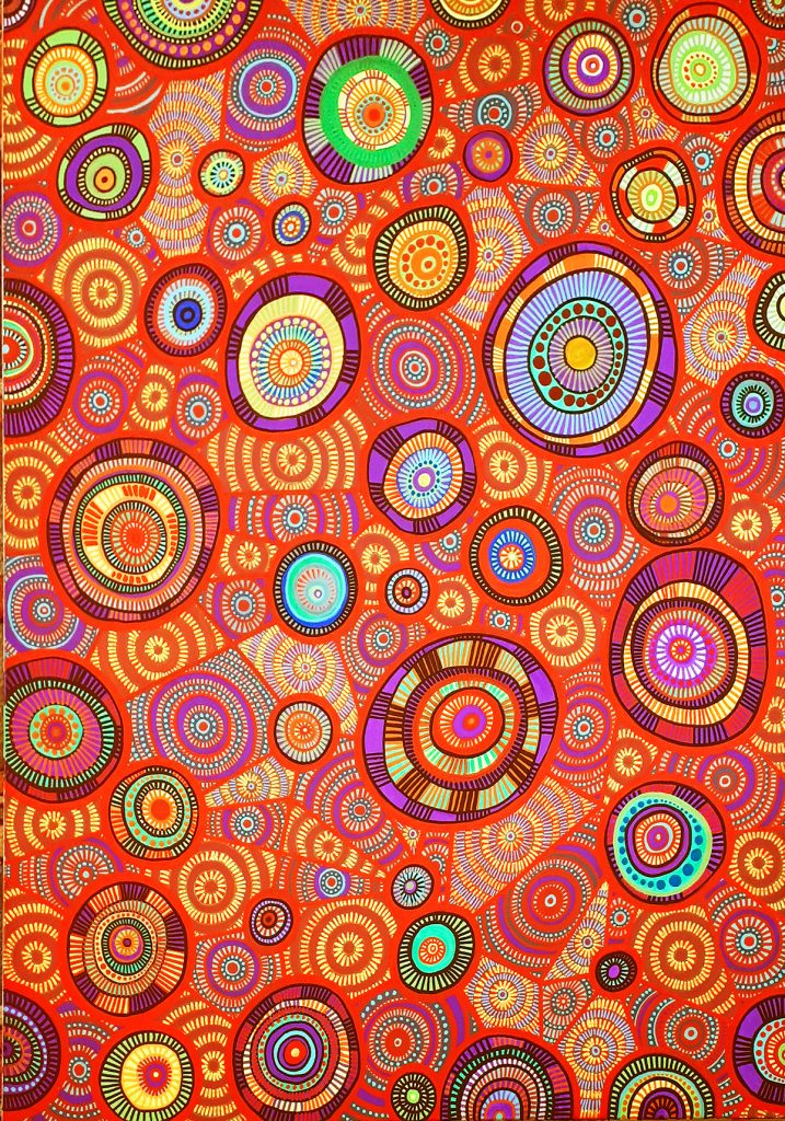 aboriginal painting water dreaming 119 by walangari karntawarra